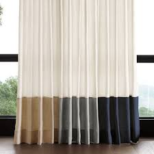 Top And Bottom Rod Curtains Curtains U0026 Drapes Williams Sonoma