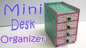 how to make a mini desk organizer ana diy crafts youtube