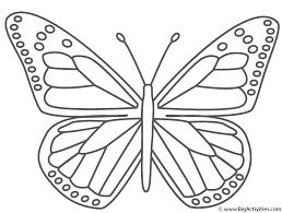 Monarch Coloring Page monarch butterfly coloring page insects