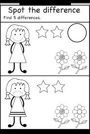 Visual Discrimination Worksheets Spot The Differences Pre K Activities Pinterest Homeschool