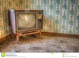 abandoned retro television stock image image of decay 34971205