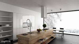 wooden kitchen islands rectangular white lacquer wood island