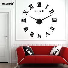 Large Mirrored Wall Clock Online Get Cheap Mirror Wall Clock Aliexpress Com Alibaba Group