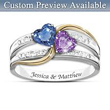 birthstone ring forever personalized engraved birthstone womens ring