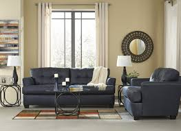 inmon navy sofa u0026 loveseat 65806 38 35 living room groups