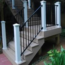 metal stair railing deck u0026 porch stair railing aluminum steel