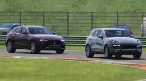 porsche maserati battle maserati levant s vs porsche cayenne turbo s racing at