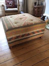 Leather Ottoman Storage Furniture Small Leather Ottoman Storage Kilim Ottoman Kilim