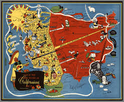 Pics Of Maps Of The United States by Map Of The United States As The Californians Saw It In 1947