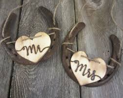 horseshoe wedding gift farm wedding etsy