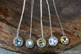 diy necklace pendants images Diy bird nest necklace jpg