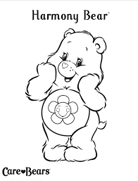 care bears coloring pages harmony bear coloringstar