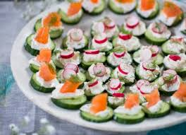 cucumber canapes smoked salmon and cucumber canapés hemsley hemsley healthy