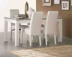 table cuisine grise table de repas roma laqué bicolore blanc grisl 190 x h 76 x p 90