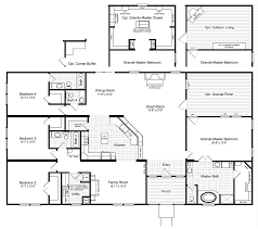 floor plans with inlaw quarters the hacienda iii 41764a manufactured home floor plan or modular