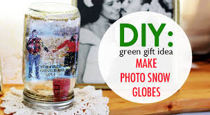 diy gift idea make photo snow globes from recycled jars
