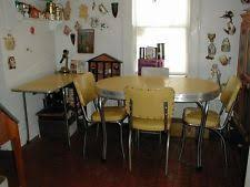 1950s chrome kitchen table and chairs vintage 1950 s chrome yellow formica kitchen table 4 chairs