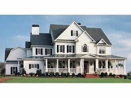 house plans country farmhouse home plan homepw10740 5466 square foot 5 bedroom 5 bathroom