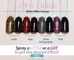 new pink gellac glitter effect sprays u0026 matte top coat