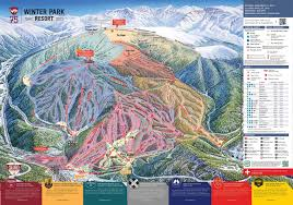 Colorado Mountain Map by Winter Park Resort Trail Map