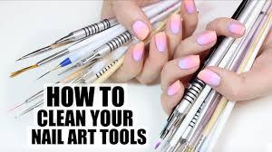 how i clean my nail art tools youtube