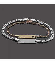 personalized bracelet personalized 2 name silver bracelet