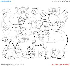 Forest Animals Clipart Color Pages Woodland Animals Coloring Pages