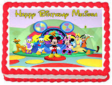 mickey mouse cake mickey mouse edible cake topper ebay