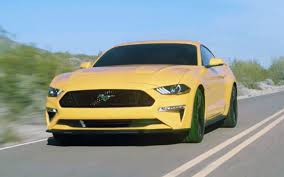 Yellow Mustang With Black Stripes 2018 Mustang Refresh Released 2018 Mustang Photos Cj Pony Parts