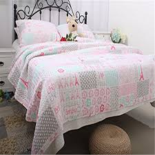 fadfay home textile 100 cotton pink theme comforter set
