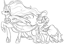 good pony friendship magic coloring pages print