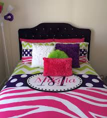 Personalized Girls Bedding by Bedroom Comfortable White Monogrammed Bedding With Smooth Pillows