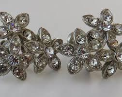 ora earrings vintage costume jewelry back earrings estate sale