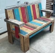 Pallet Wood Patio Furniture - pallet wood bench i love the different colors of the wood old
