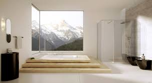 large bathroom design ideas beautiful contemporary bathroom design with large windows and white