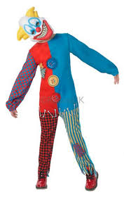 clown costume kid s scary clown costume all mega fancy dress