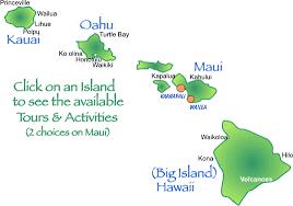 map of hawaii island aloha tour map of 4 major hawaiian islands