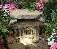 how to build a rock waterfall fountain homemade water ideas patio