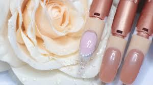 glass glitter chique stilleto gel nails form extension ibd led