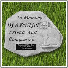 memorial stepping stones cat stepping personalized garden