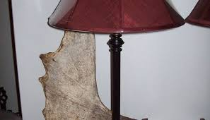 Oak Table Lamp Moose Antler Table Lamp Oregonuforeview Com