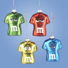Pack Of Blue Christmas Decorations by Pack Of 6 Chocolate Shop Big M U0026m Face Glass T Shirt Christmas