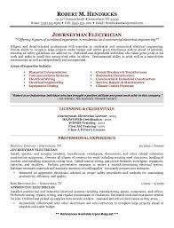 Resume Electrician Sample by Example Of Journeyman Electrician Resume Http Exampleresumecv