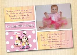 free printable minnie mouse 1st birthday invitations drevio
