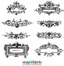 free floral ornaments vector floral ai svg eps vector free