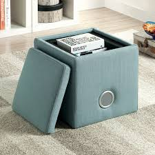 furniture of america mini cube storage ottoman with bluetooth