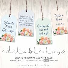 printable floral gift tags label template hands in the attic