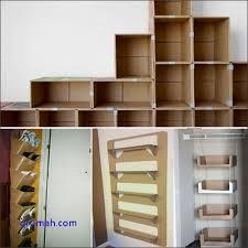 cara membuat lemari buku dari kardus bekas model ide membuat rak buku dari kardus