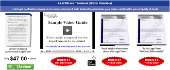 bc last will and testament package dynamic legal forms