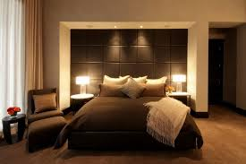 furniture vivid black on modern bedroom with thick mattress on